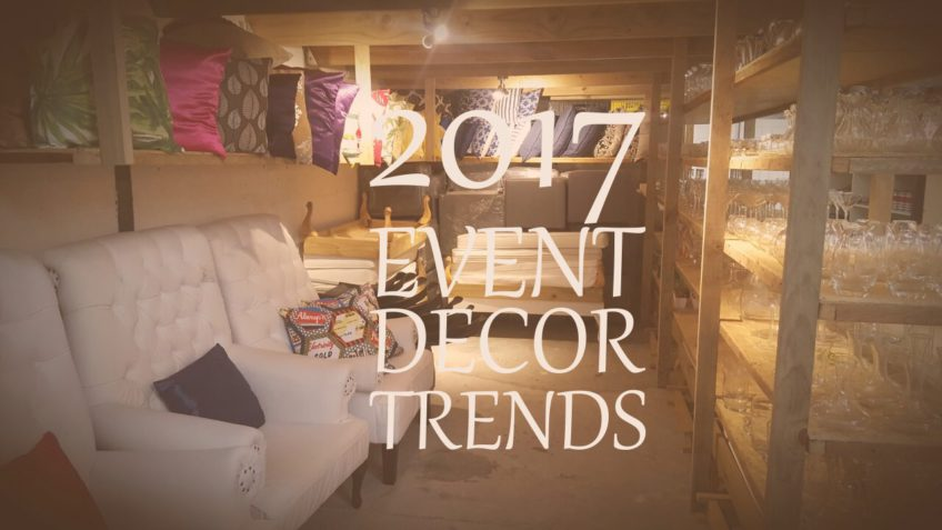 Wedding and event décor trends for 2017