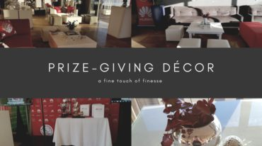 Bringing a touch of décor finesse into prize-giving events