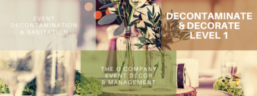 Decontamination & Décor –Setting the scene for worry-free perfection
